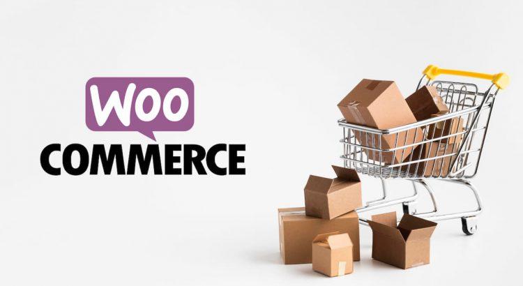 Logotipo Woocommerce ao lado de caixas de encomendas, representando como utilizar o plugin Frenet para Woocommerce em uma loja virtual